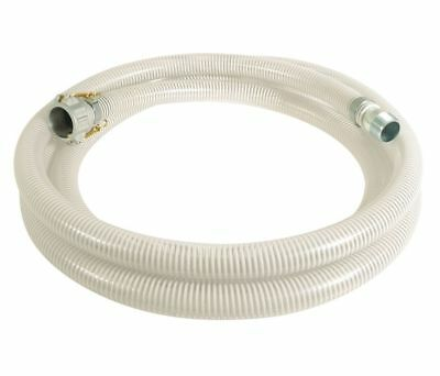 "20 ft. PVC Water Suction Hose, 2"" Aluminum Female Camlock x Steel MNPT Fitting"