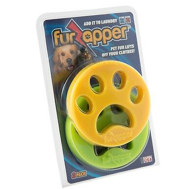 FurZapper 2 Pack Pet Hair Remover - Removes Cat Fur Dog Hair from Laundry