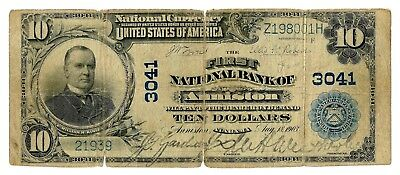Anniston, Alabama (AL) $10 National Bank Note, 1902 Lg Size, Blue Seal, Ch 3041