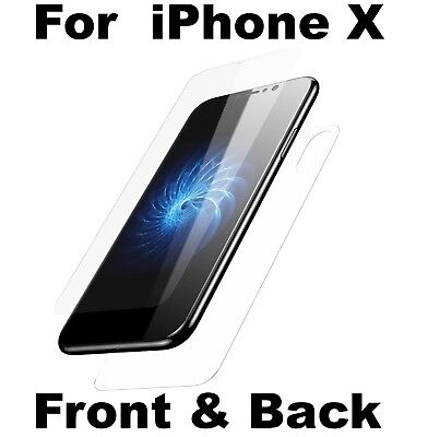 Front And Back Tempered Glass 360 Screen Protector For Apple iPhone X & XS Phone