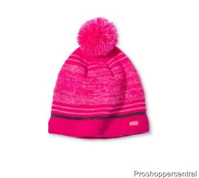 24d23f39369 CHAMPION C9 GIRLS  Pom Beanie Hat - Pink   Gray - One Size Fits Most ...