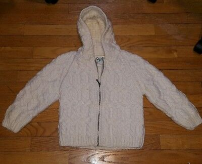 Kids Carriag Donn hand knit hooded Irish sweater