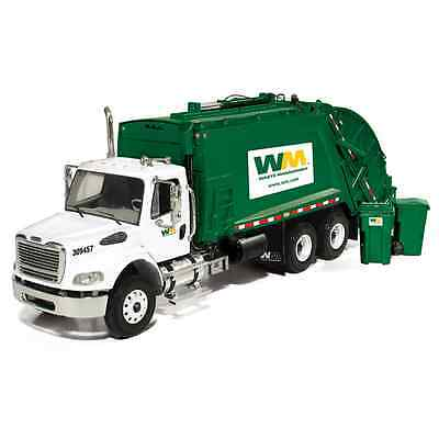 NEW WASTE MANAGEMENT REAR LOAD GARBAGE TRUCK WITH CARTS by first gear. 1/34 MIB