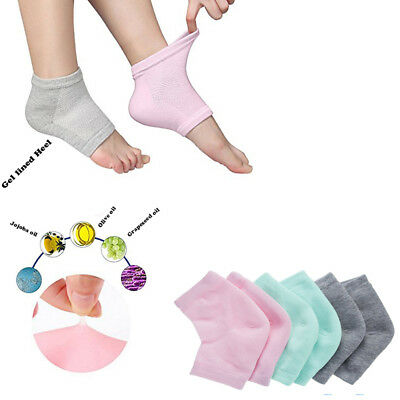 Moisturizing Gel Heel Socks Foot Care Dry Cracked Feet Skin Treatment Toeless