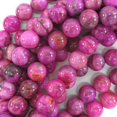 """Purple Pink Crazy Lace Agate Round Beads 15.5"""" Strand 4mm 6mm 8mm 10mm 12mm"""
