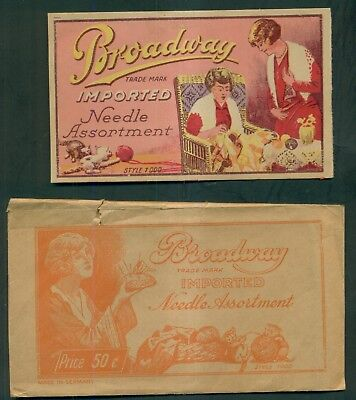1910 Broadway Imported Needle Assortment in Envelope - Made in Germany