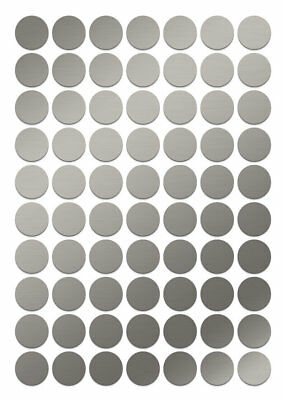 """1"""" Metallic SILVER Color Coding Round Inventory Label Dots Sticker self adhesive"""
