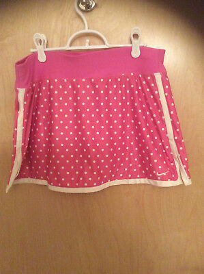Nike Pink w/White Polka Dots Med Tennis Skirt SO CUTE  Super Hard to find  NWOT
