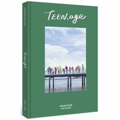 SEVENTEEN 2nd Album TEEN, AGE GREEN ver.CD+Book+POSTER (ON PACK)+Card+Standing
