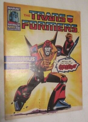 Transformers #113 1987 UK 1st Appearance Death's Head VF/NM