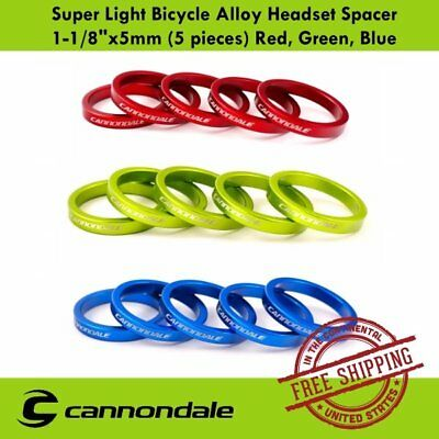 "Cannondale Super Light Bicycle Alloy Headset Spacer 1-1/8""x5mm (5 pieces)"