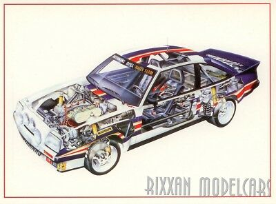 OPEL MANTA 400 Rothmans Transparent Picture Interior Postcard Card NEW