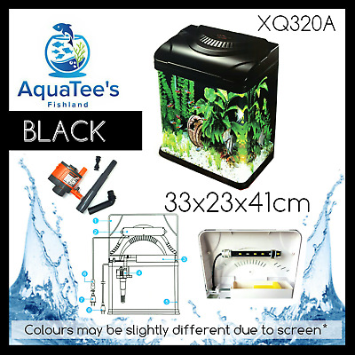 Aquatee Xq-320A Nano 29-L Aquarium Fish Tank Led Water Pump Filter Marine Black