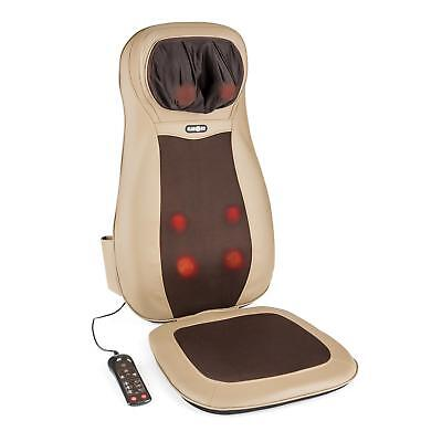 Massage Cushion Electric Massager Shiatsu Home Car Back Neck Heated Remote Brown