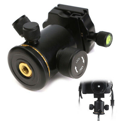 Aluminum 360° Rotate Tripod Ball Head + Quick Release Plate For Canon Nikon Sony