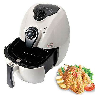 1500W Airfryer Electric System 4.8L No-Oil Deep Air Fryer Temperature Control
