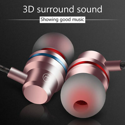 Super Bass Stereo Sport Headphone Earphone In Ear Headset Earbuds With Mic New