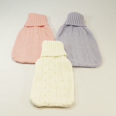 Aran Style Knitted Wool Novelty Hot Water Bottle Covers 100% Acrylic