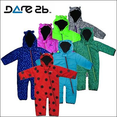 Dare2b Break The Ice Insulated Padded Kids Snow Suit Girls Boys Baby All-In-One