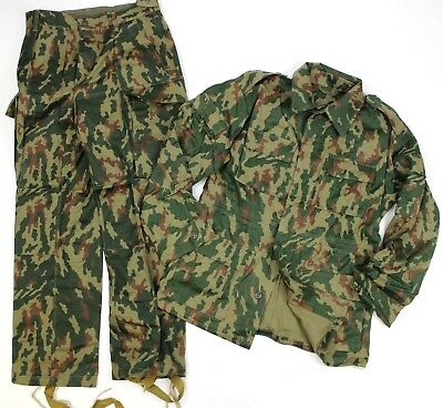 (11) Genuine Soviet Russian Army Uniform In Woodland Flora Camo 38 Chest