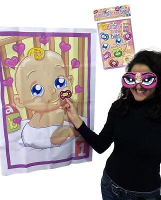 ** Pin The Dummy On The Baby Game New ** Baby Shower Party