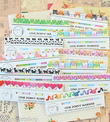 One Point Marker Sticky Notes cute cartoon animals memo note tabs page markers