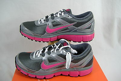New Womens 11 NIKE Dual Fusion ST Gray Pink Running Shoes $75 407847-003