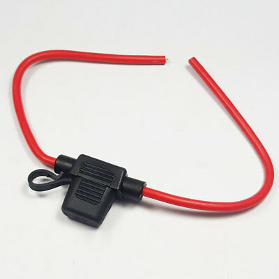 2 x In-line Mini Blade Fuse Holder Splash Proof 30A Cable Car Auto Bike Fuses