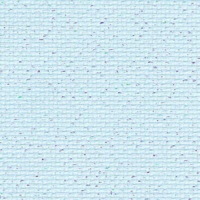 "Zweigart Blue Aida/Pearl Flecked ""Sky Glitter"" 14 Count Aida (Multiple Sizes Ava"
