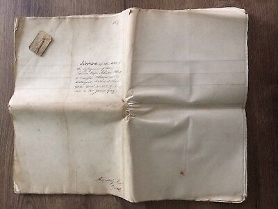 George IV 1827 19 Page Probate And Indentures Dated 1721 - 1827