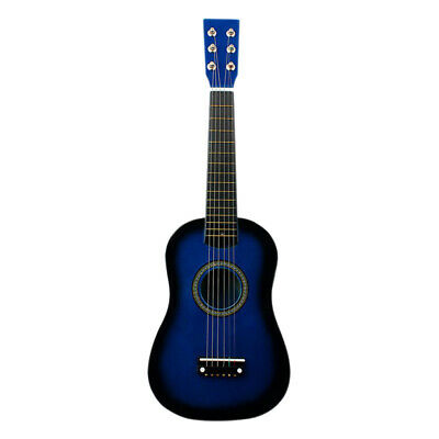 "23"" 6-String Folk Acoustic Guitar for Beginners Music Lovers Students Blue"
