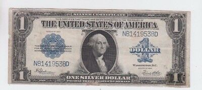 Silver Certificate $1 1923  vf stain