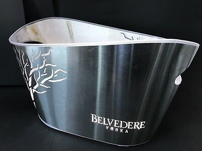 Belvedere Vodka XXL Chrome LED Metall Kühler Deko Party Silvester