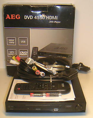 kleiner dvd player von aeg dvd 4550 hdmi usb divx. Black Bedroom Furniture Sets. Home Design Ideas
