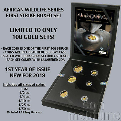 AFRICAN WILDLIFE - First Strike GOLD Coin Set - 2018 Somalian Elephant ONLY 100