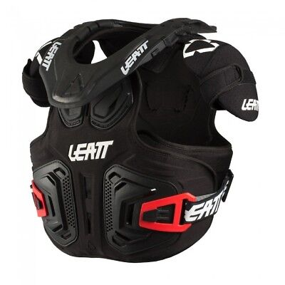 2019 Leatt Neckvest Fusion 2.0 Junior Neck Brace & Body Armour Black Youth Mx