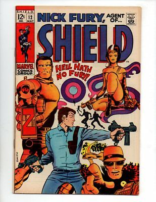"Nick Fury, Agent of SHIELD #12 (May 1969, Marvel) VF 8.0 ""SMITH COVER & ART"""