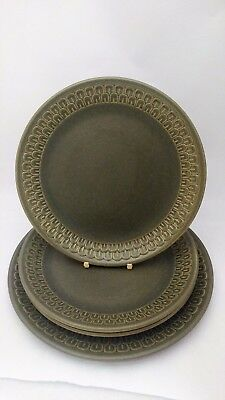 "4 Pieces of Wedgwood Cambrian - (3) 9"" Luncheon Plates & 10 3/8"" Dinner Plate"
