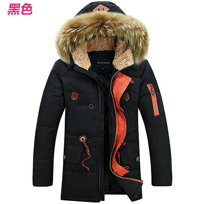 New Fashion Men fur collar Jacket Coat Parka Winter Warm Duck Down Outerwear