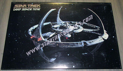 AWESOME RARE Star Trek: Deep Space Nine LIGHTED & FRAMED Space Station POSTER!