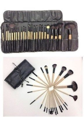 24pcs Professional Soft Cosmetic Eyebrow Shadow Makeup Brush Tool Set Kit Bag US