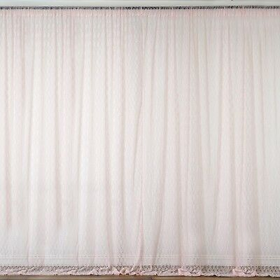 BLUSH 10 x 10 ft Sheer Lace BACKDROP CURTAINS Drapes Panels Home Decorations