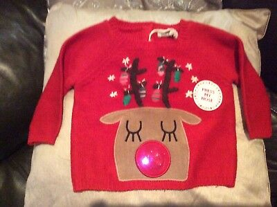 Sainsburys Novelty Lighting : BNWT Baby Boys Tu Christmas Jumper Age 18-24 Months ?5.00 - PicClick UK