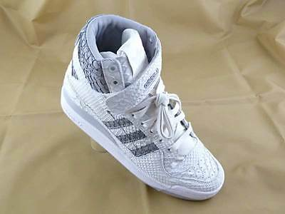 ADIDAS Mens Originals Forum HI OG Chalk White Grey Snakeskin Size 8.5 NEW
