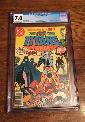 New Teen Titans #2 CGC 7.0! 1st Appearance Of DeathStroke The Terminator!New!