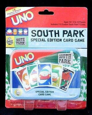 South Park Special Edition Comedy Central Uno Cards & Tin Unopened Package