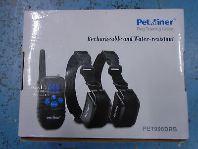 Petainer Dog Training Collar - Rechargeable and Waterproof PET998DRB 2 Dogs