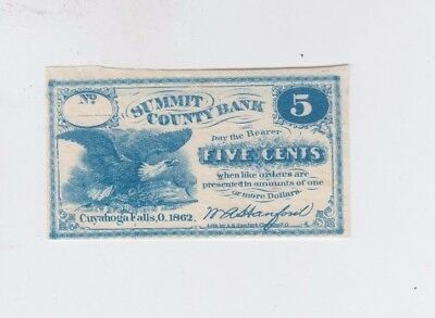 Obsolete Currency Ohio one old note unc