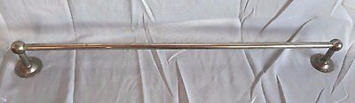 "Antique Nickel Brass 24"" Towel Bar Old Vintage Bathroom Kitchen Fixture 215-17J"