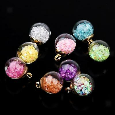 9pcs Ball Shape Glass Embellishment Star Bead and Sequins for DIY Crafts